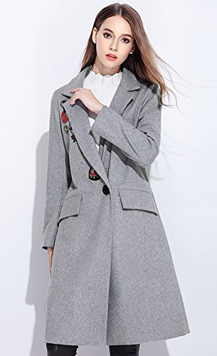 SK Studio - Abrigo - para mujer gris