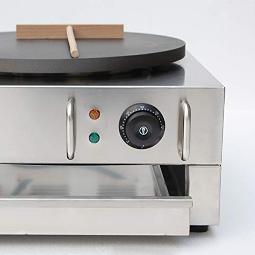 Wotefusi Electric Crepe Machine Griddle Commercial Snack Machine Electric Hot Plate (Double plates) 110V by Wotefusi (Image #5)