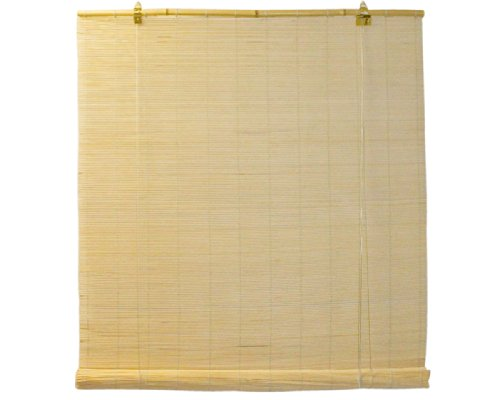 Matchstick 72 Bamboo Shade - Seta Direct, Natural Bamboo Matchstick Roll Up Window Blind 72-Inch Wide by 72-Inch Length (Natural Beige)