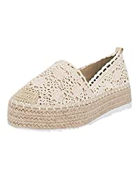 Jesper Women's Loafers Slip on Comfortable Lace Flat Shoes Breathable Thick Sole Sneakers