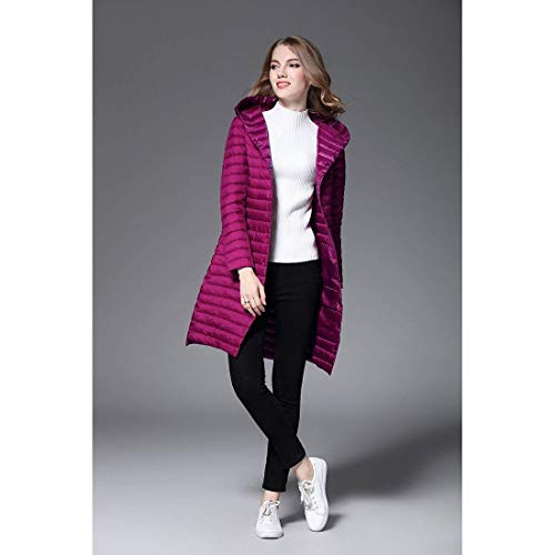 XL Fit Color Manteaux Warm Outerwear Lgrement Mode Size Impermable Spcial Rembourr Rose Capuche A Bouton Legere Femme Gaine lgant Longues Doudoune Hiver Style Slim qxgFO44