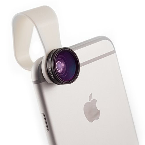 iPhone Camera Lens 2-in-1 by Pocket Lens, Macro and Wideangle Lens, Fits All iPhones, iPads,...
