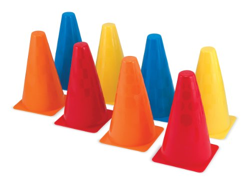 Assorted Color Cones - Melissa & Doug 8 Activity Cones (Outdoor Play Equipment)