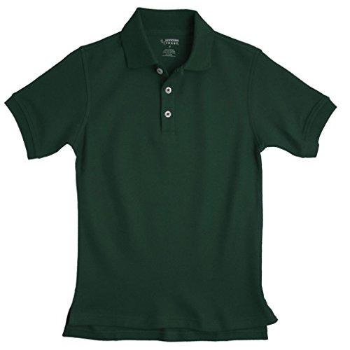 French Toast Boys Short Sleeve Pique Polo Hunter Green (Boys Navy Polo)