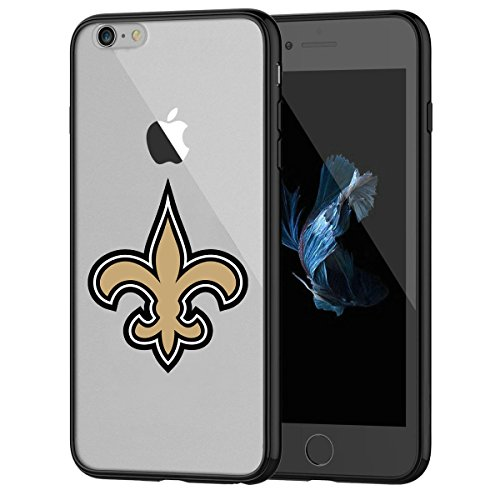 Saints Cell (Saints iPhone 7 Tough Case, Shock Absorption TPU + Translucent Frosted Anti-Scratch Hard Backplate Back Cover for iPhone 7- Black)