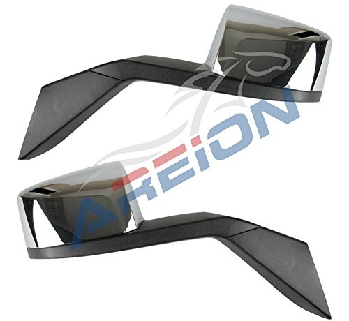 Volvo VNL Chrome Hood Mirror Set | 630 670 730 780 2004-2017 Truck Models | Driver and Passenger Side | Mounting Kit Included | Direct Replacement for OEMs 82361058 & 82361059 | Areion