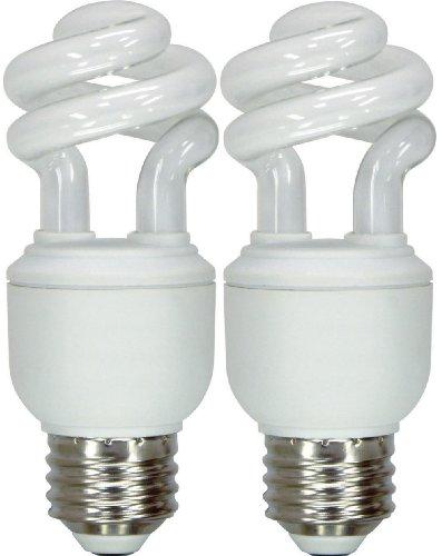Cfl 19w Spiral (GE Lighting 74197 Energy Smart Spiral CFL 10-Watt (40-watt replacement) 520-Lumen T3 Spiral Light Bulb with Medium Base, 2-Pack)