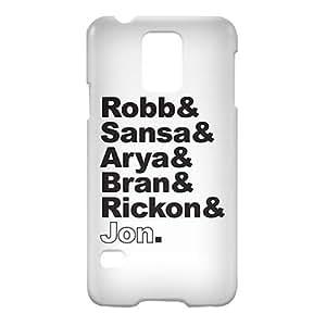 Loud Universe Samsung Galaxy S5 Stark Family Print 3D Wrap Around Case - White/Black