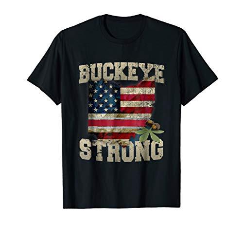Shirts Ohio State Buckeyes (Ohio Buckeye Strong Ohio USA Flag Overlay)