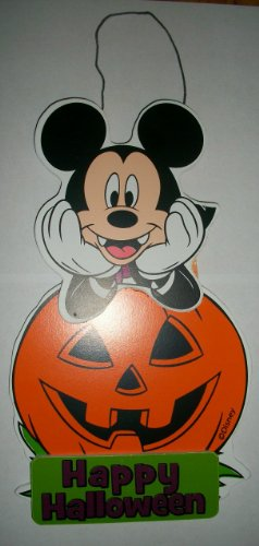 Mickey Mouse Happy Halloween Hanging Decor Sign