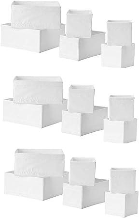 Ikea Skubb - Caja de almacenamiento (18 unidades), color blanco: Amazon.es: Hogar