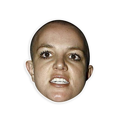 [Angry Britney Spears Mask - Perfect for Halloween, Masquerade, Parties, Events, Festivals, Concerts - Jumbo Size Waterproof] (Britney Spears Concert Costumes)