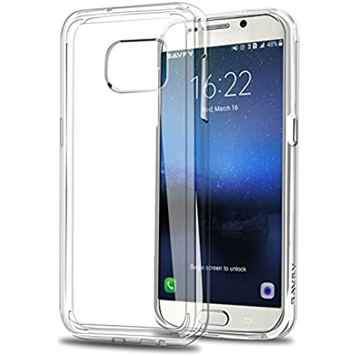 Galaxy S7 Edge Case, SAVFY Crystal Clear Scratch Resistant Back Panel + TPU Shock-Absorbing Bumper for Samsung Sales