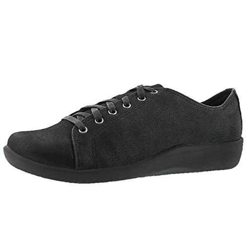 Clarks Women's Sillian Glory Lace Up Casual Shoe Black 8.5 M US