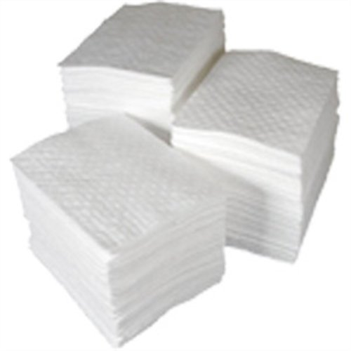 SPC BPO100 BASIC Oil Only Heavy Weight Pad, White, 15'' L x 17'' W (100 Per Bale) (4 Cases) by SPC