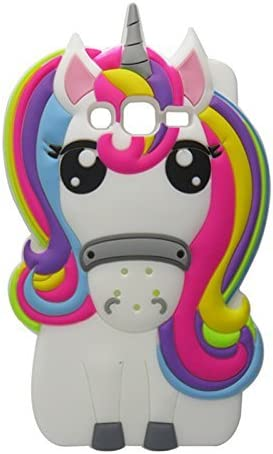 Rainbow silicone unicorn case for