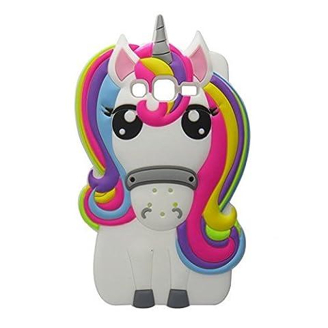 Rainbow Unicorn Samsung Galaxy S3 Case,Awin 3D Cute Cartoon Rainbow Unicorn Horse Animal Soft Silicone Rubber Case For Samsung Galaxy Galaxy S3 SIII (Galaxy S3 Phone Cases Samsung)