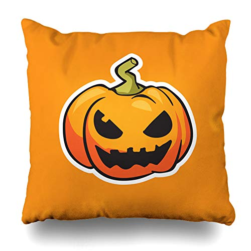 (Decorativepillows Case Throw Pillows Covers for Couch/Bed 18 x 18 inch,Pumpkin Halloween Art Autumn Cartoon Cute Food Funny Home Sofa Cushion Cover Pillowcase Gift Bed Car Living)