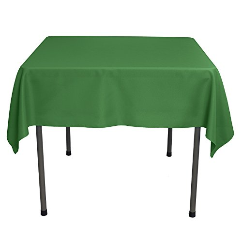 (Remedios Square Tablecloth 54 inch Polyester Table Cover for Wedding Restaurant Party Banquet Decoration, Green)