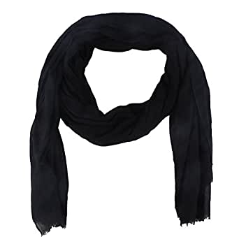 Paladoo Solid Color Scarfs for Women Long Scarf Beach Wrap Shawls Black