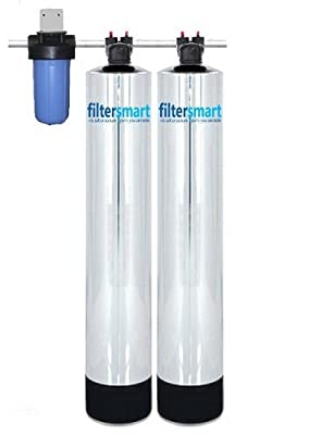 Whole House Water Filter And Salt Free Water Softener Combo 4+ Bath 15 GPM