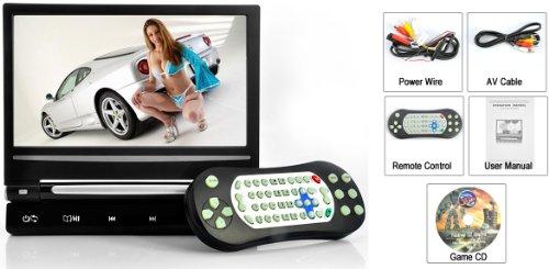GRAY 9″ Digital Screen Headrest DVD Player Monitor & Wireless Dual Channel Headphone & Built in Games