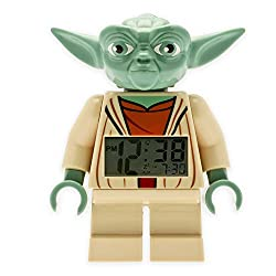 LEGO® Star Wars™ Yoda Minifigure Alarm Clock | Snooze and Backlight Functions are Activated | 3 L x 3 W x 8 H