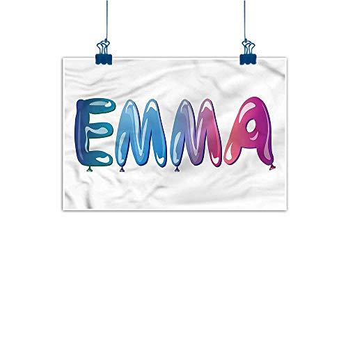Warm Family Modern Frameless Painting Emma Feminine Balloon Name Bedroom Bedside Painting 20
