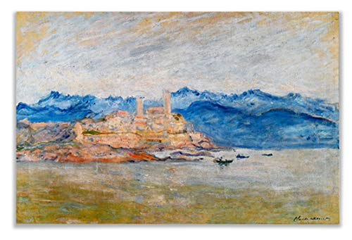Monet Wall Art Collection The The Fort of Antibes, 1888 Canvas Prints Wrapped Gallery Wall Art | Stretched and Framed Ready to Hang - 1888 Stretched Canvas