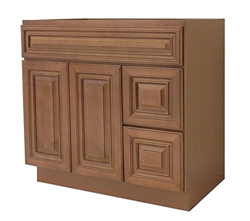 NGY Coffee Glaze Vanity Cabinet Maple Wood COG-4221DR, 42