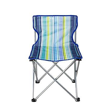 Folding chair Health UK Silla Plegable de Tiras Azules Banco ...