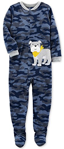 Carter's Big-boys' 1 Pc Micro Fleece Footed Blanket Sleeper (7, Bulldog) ()