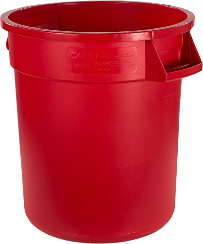 Carlisle 34101005 Bronco Round Waste Container Only, 10 Gallon, Red