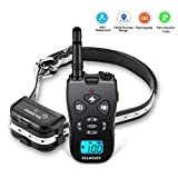 Esky Remote Control Dog Training Transmitter & Rechargeable Collar, 100 Level Shock and Vibration