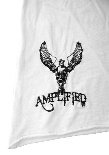 Original Amplified Vintage Hombre Camiseta de Rolling Stones UK Flag Tongue Color Blanco Talla S