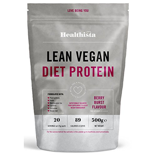 Healthista Lean Diet Vegan Protein Berry Burst Powder, 500 g by Healthista