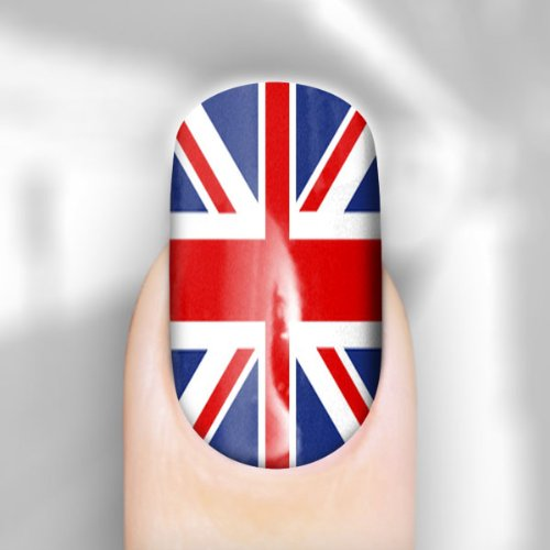 Union jack nail wraps for fingers amazon beauty prinsesfo Image collections