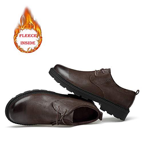 Warm Color Jiuyue Oxford Dimensione Business Scarpe Scarpe uomo Pelle formali EU spesso in pelle da Black tonda casual Uomo Abiti normale 40 shoes calde Cotone 2018 lavoro da Warm Testa Brown Fondo rnnxp4S