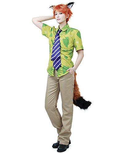 [Miccostumes Men's Fox Nick Wilde Cosplay Costume (Men L)] (Wild Man Costumes)
