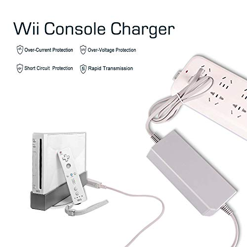 Console Charger for Wii, AC Power Adapter Supply Cable for Nintendo Wii (Not for Nintendo Wii U)