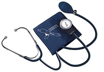 Almamedical Medidor de presion arterial mecanico para brazo, con estetoscopio: Amazon.es: Salud y cuidado personal