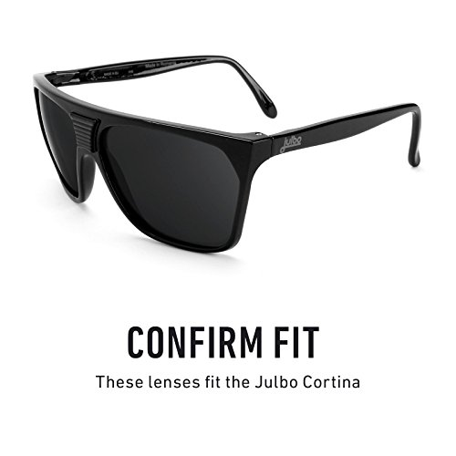 Verres de rechange pour Julbo Cortina — Plusieurs options Polarisés Elite Flash Bronze MirrorShield®