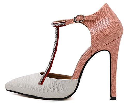 HETAO Personality Heels Womens Ladies Mid High Heel Evening Work Platform Court Shoes Size Temperament Elegant Shoes Pink bjtcnyJ