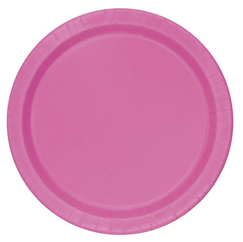 Hot Pink Paper Cake Plates, (Halloween Entertaining Food Ideas)