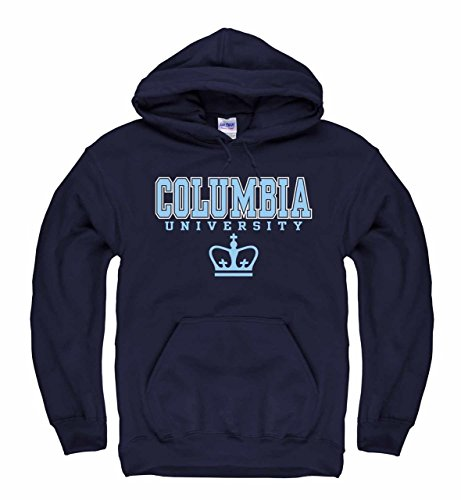 Campus Colors Columbia Lions Arch & Logo Gameday Hooded Sweatshirt - Navy, XX-Large