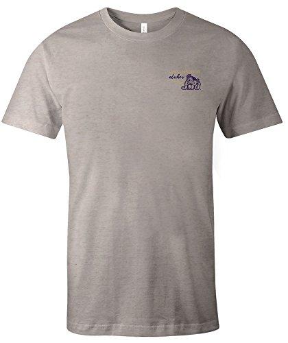 Image One NCAA James Madison Dukes Adult NCAA Hand Type Short Sleeve Triblend T-Shirt,Large,Oatmeal