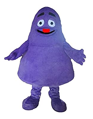 Grimace Purple Monster Mascot Costume Cartoon Character Adult Sz Langteng Cartoom