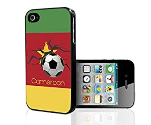 Green, Red, and Yellow Cameroon Soccer Flag Fan Art Hard Snap on Phone Case (iPhone 4/4s)