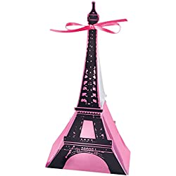 Day In Paris Eiffel Tower Favor Boxes (12 ct)