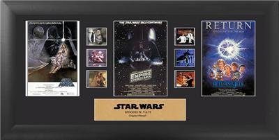 Trilogy Film Cell - Star Wars Ep IV, V, VI Mixed Trilogy 20 X 11 Film Cell Special Edition COA